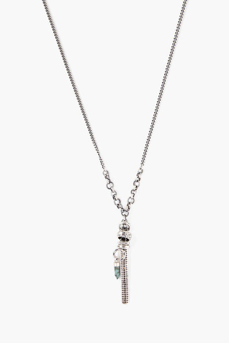 Emerald Bullet Charm Necklace