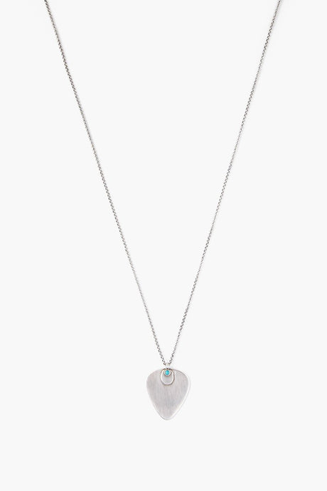 Turquoise Plectrum Necklace