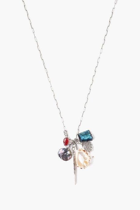 Blue Labradorite Mix Sea Charm Necklace