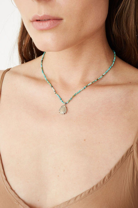 Compressed Turquoise Leopardo Necklace