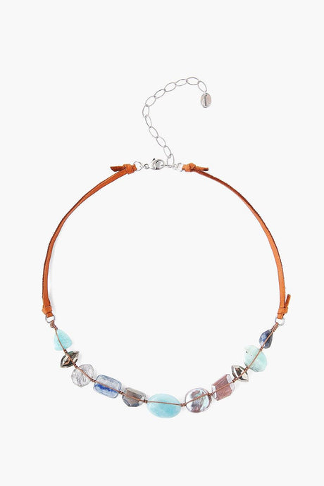 Amazonite Mix Atlantis Leather Necklace