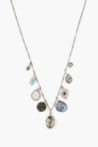 Abalone Mix Donna Charm Necklace