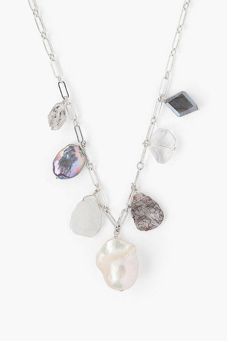 Silver Mix Charm Necklace