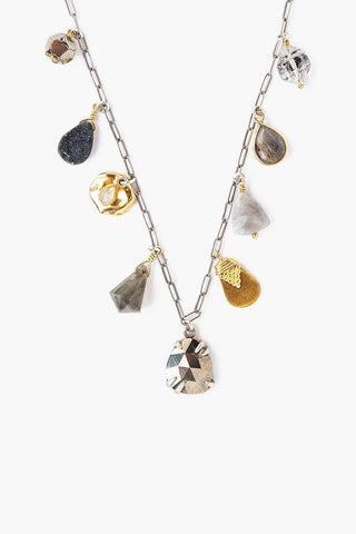 Pyrite Mix Charm Necklace