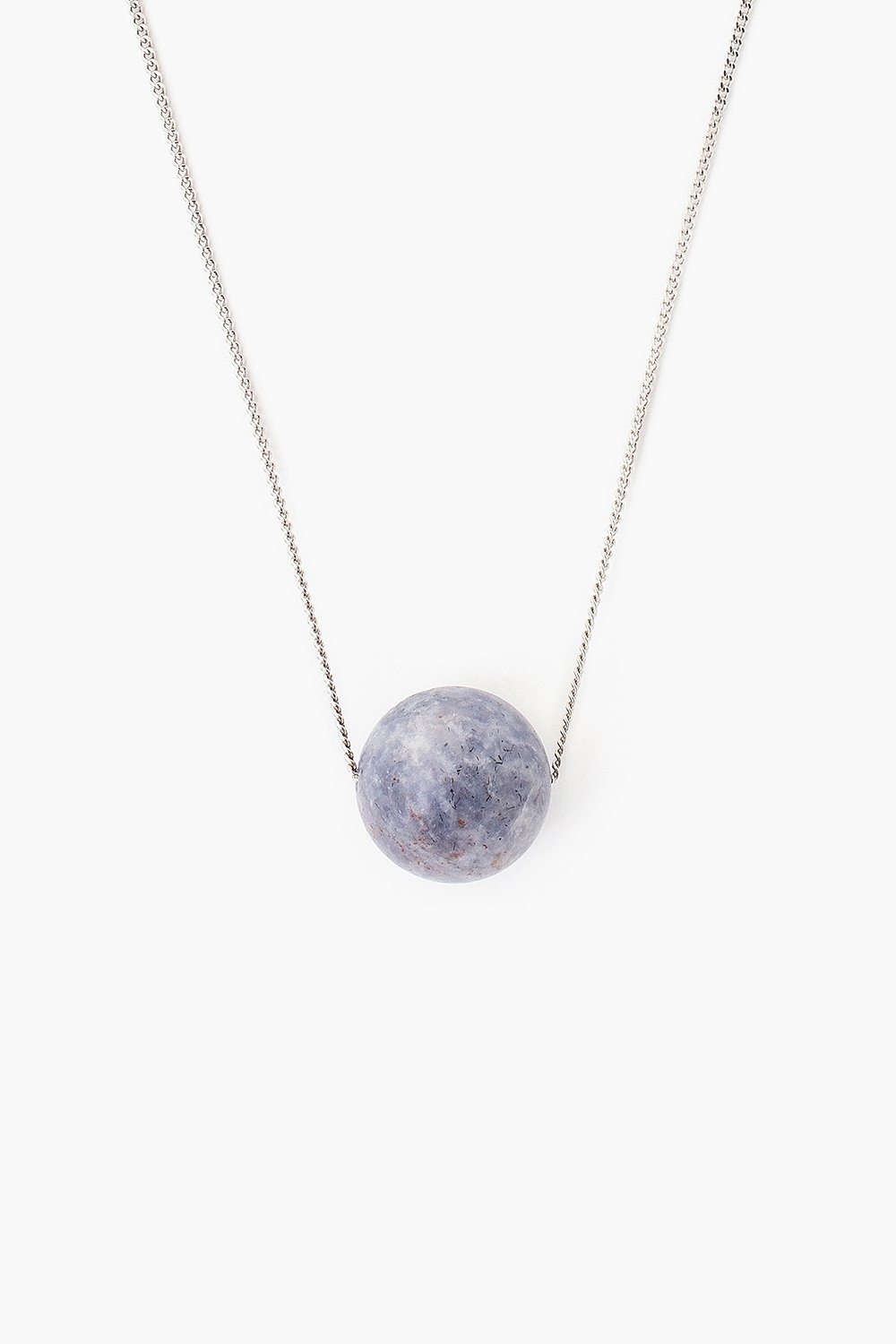 Matte Iolite Pendant Necklace