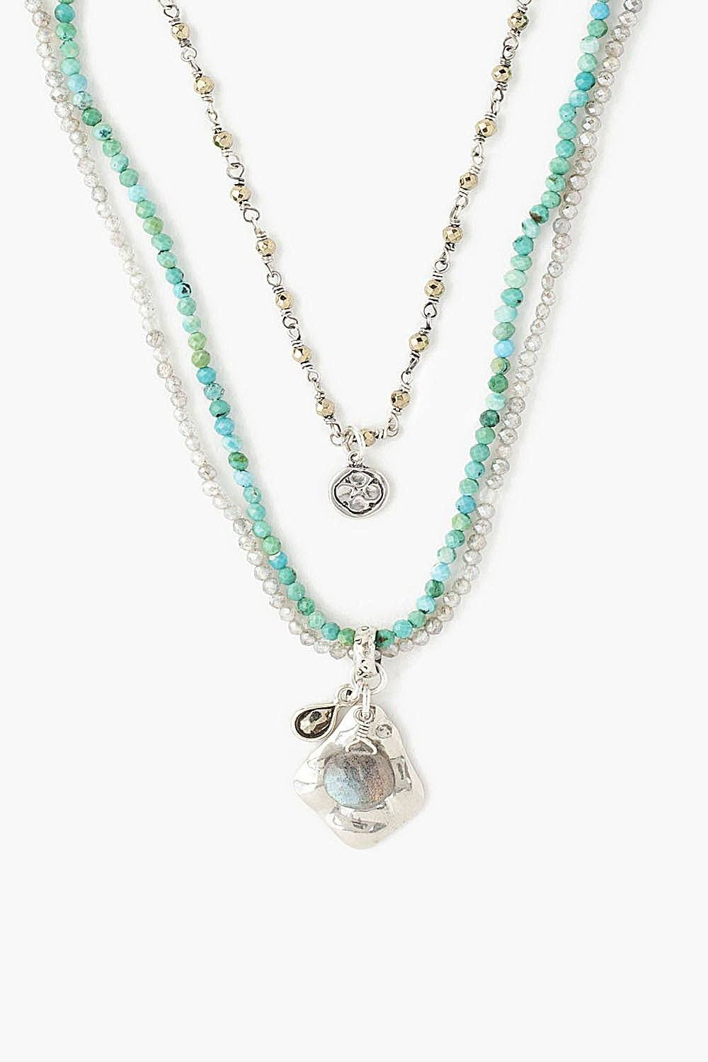Turquoise Mix Multi-Strand Necklace