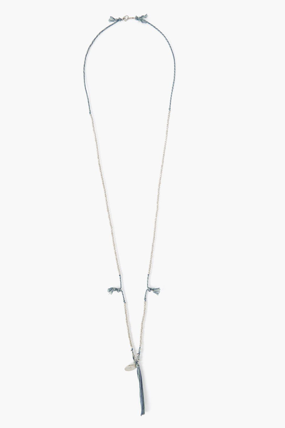 Mint Twist Cord Layering Necklace
