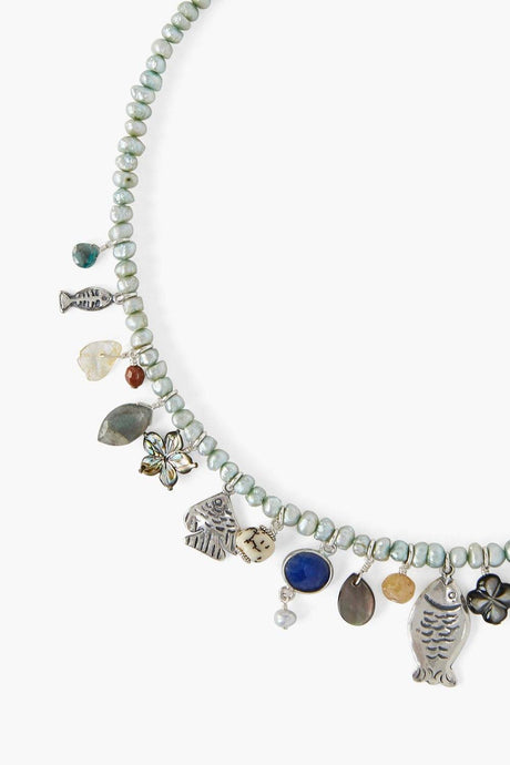 Green Pearl Maiden Necklace