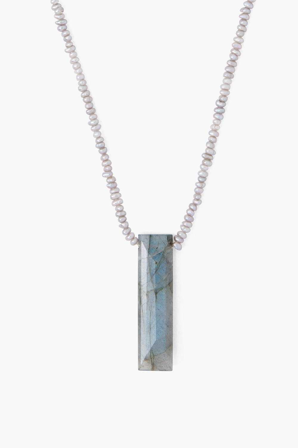 Labradorite Healing Stone Column Necklace
