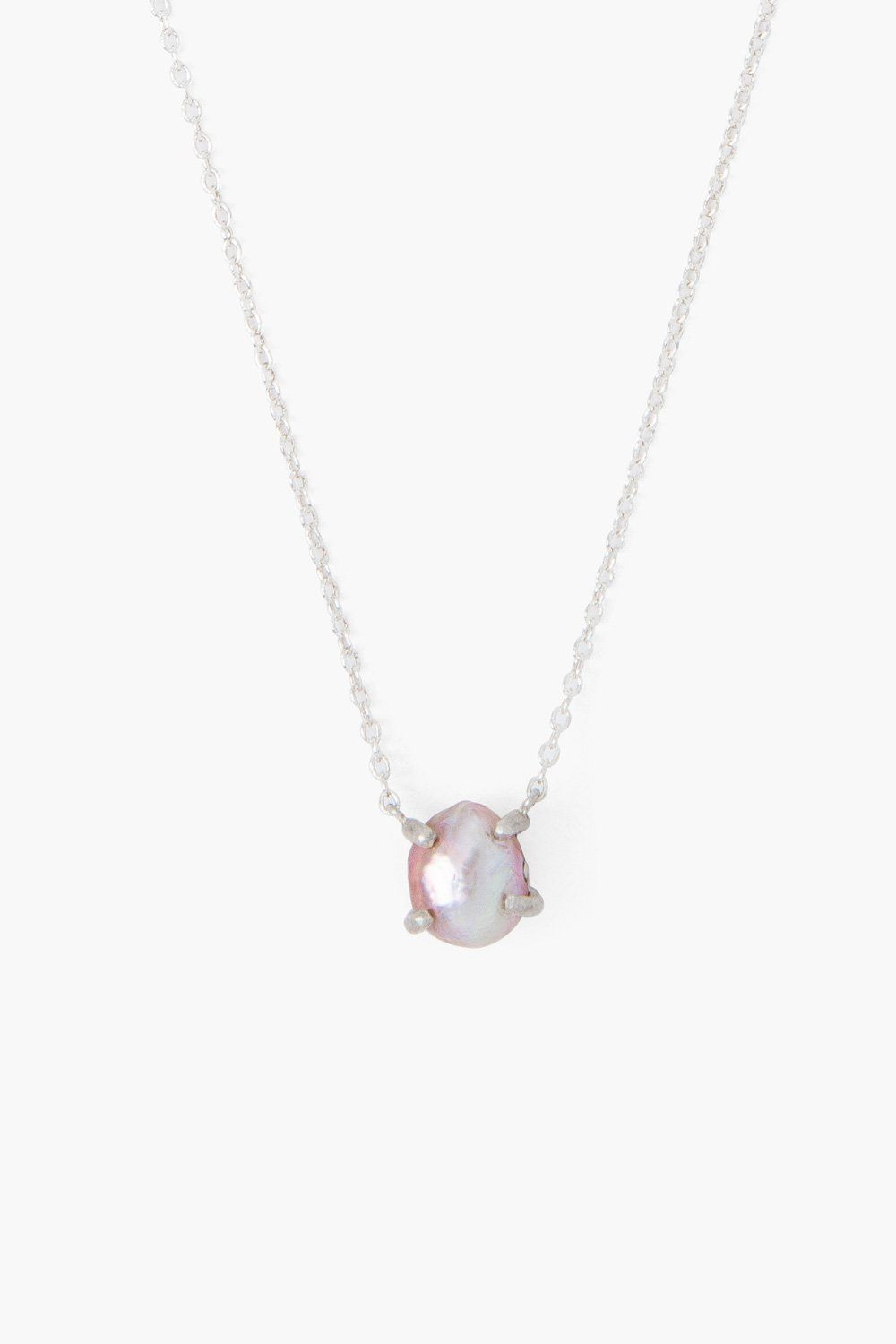 Pink Pearl Solo Necklace