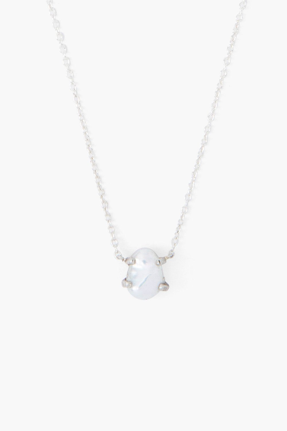 White Pearl Solo Necklace