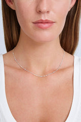 Free-Form Grey Pearl Mix Short Necklace