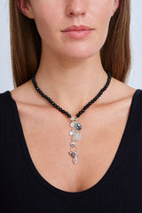 Onyx Mix Mano Lariat Necklace