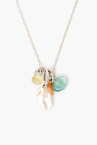 White Pearl Mix Voyage Necklace