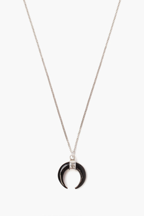 Black Horn Champagne Diamond Pendant Necklace