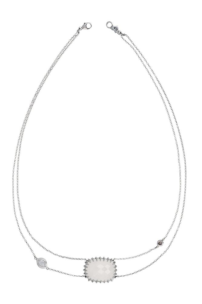 Moonstone Prong Set Necklace