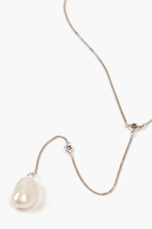 White Freshwater Pearl Drop Pendant Necklace