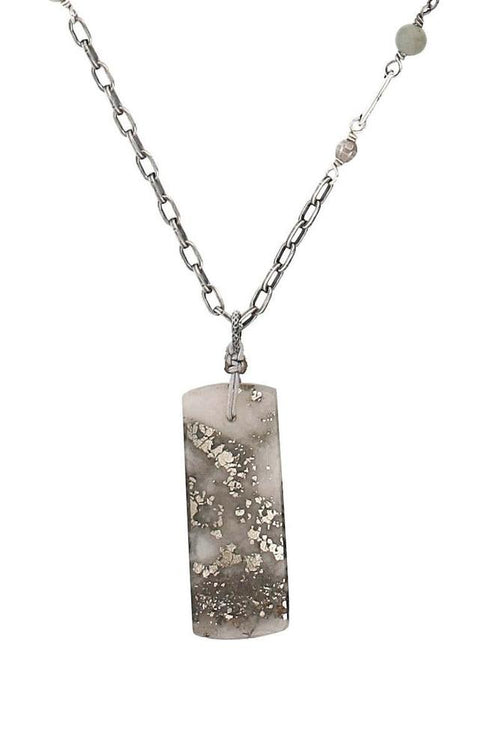 Grey Mix Pendant Necklace