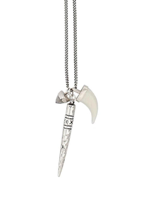 White Bone Dagger Necklace