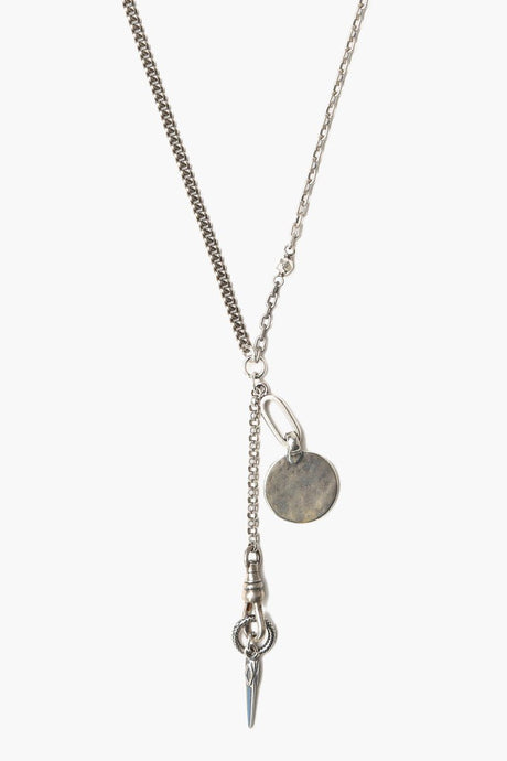 Silver Dagger Charm Necklace