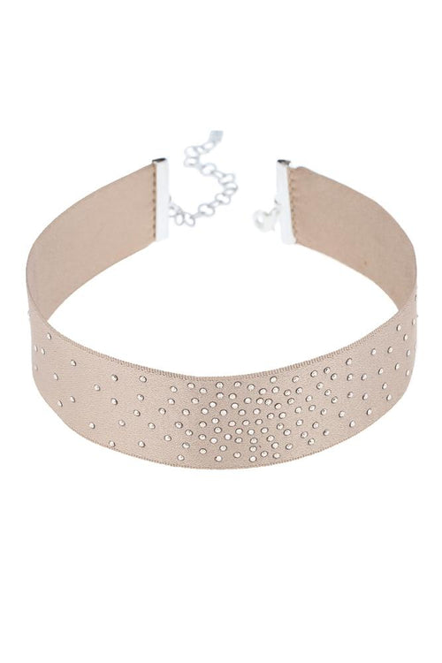 Bronze Crystal Speckled Choker