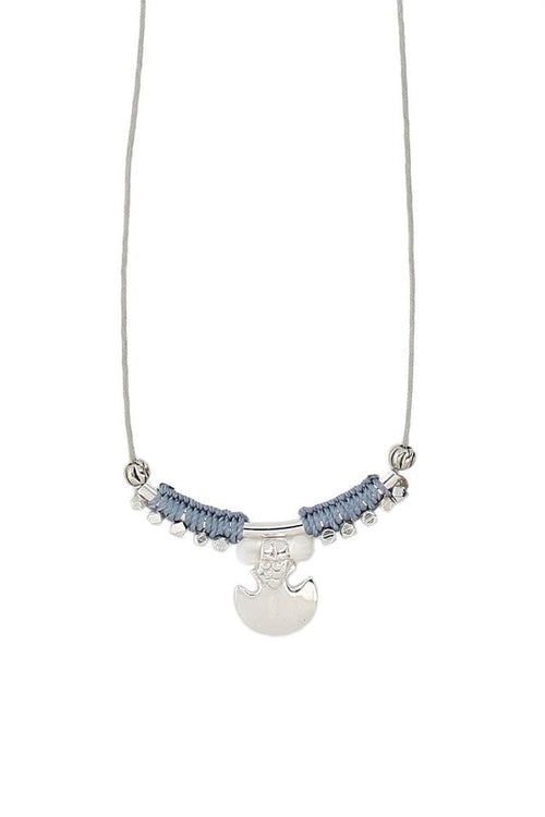 Denim Mix Adjustable Necklace