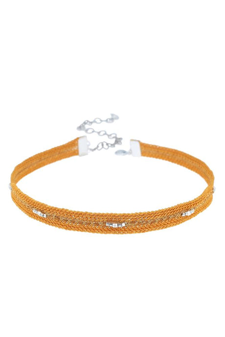 Orange Braided Choker