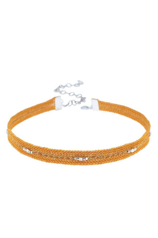 Light Brown Diamond Pendant Choker