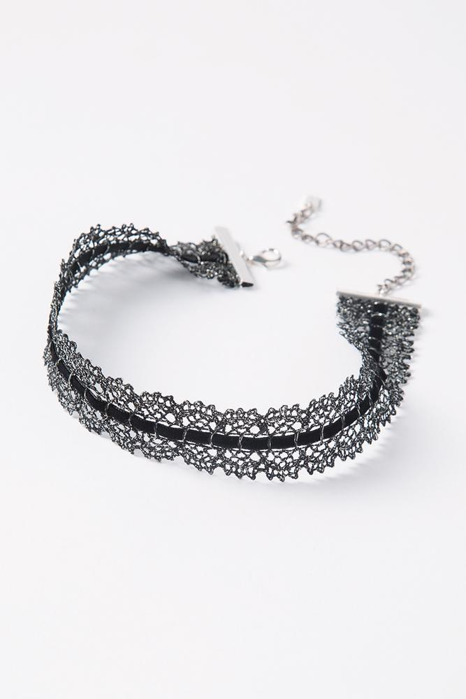 Black Mix Lace Choker