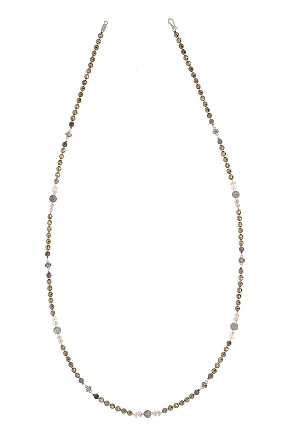 Pyrite Mix Long Necklace