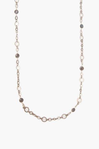 Black Mix Micro Horn Charm Short Necklace