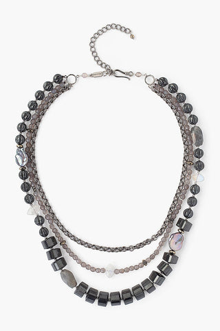 Hematite and Labradorite Pre-Layered Necklace