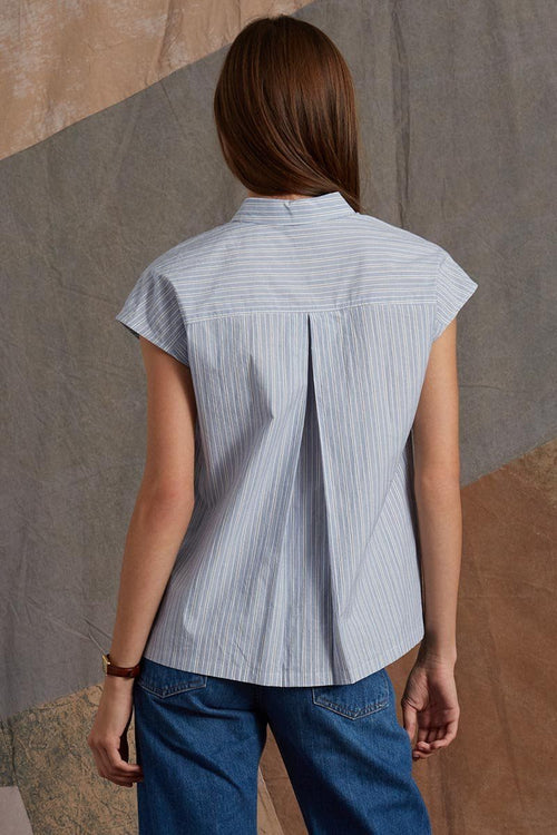 Blue Stripe Jane Top