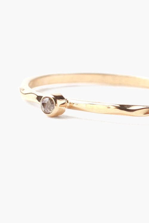 Petite Champagne Diamond Stacker Ring
