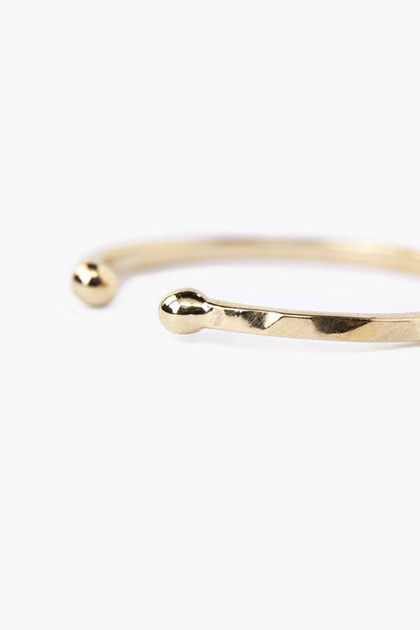 14k Hammered Toe Ring