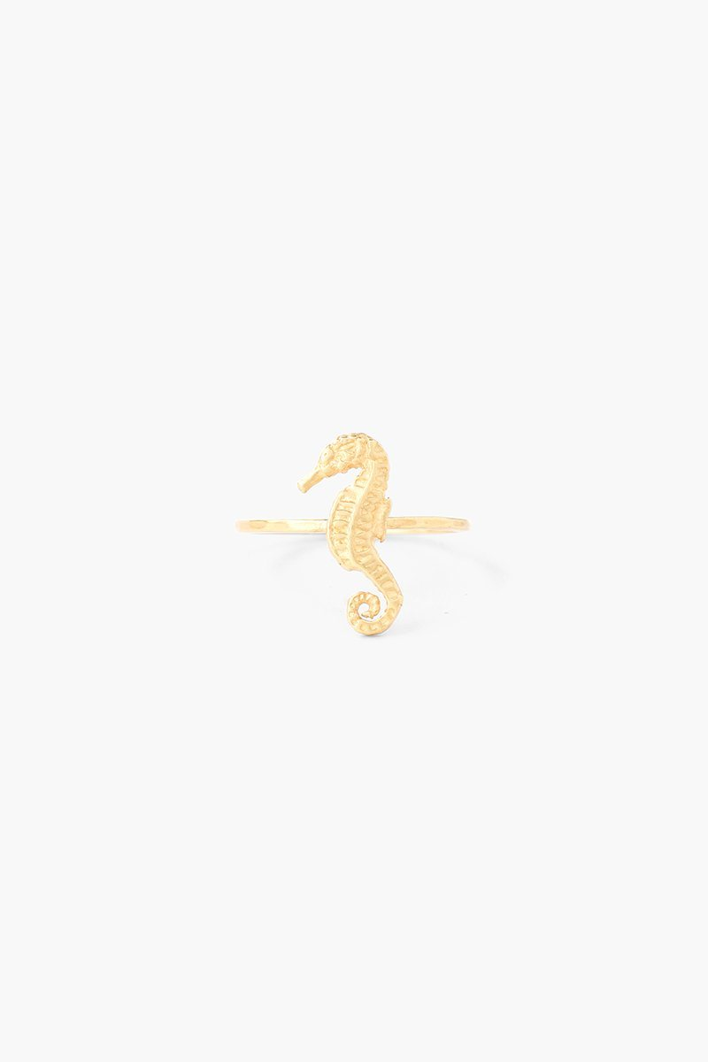 Gold Seahorse Stacker Ring