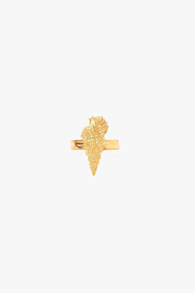 Gold Seashell Ring