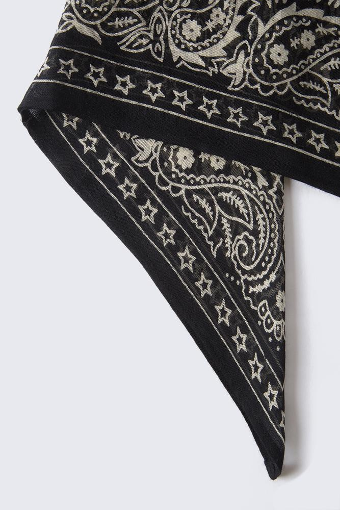 Black White Swan Star Print Bandana