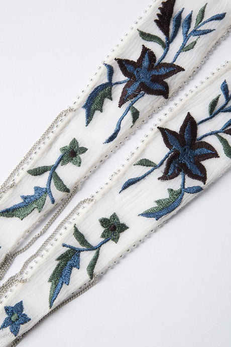 Deep Dive Star Floral Embroidered Necktie