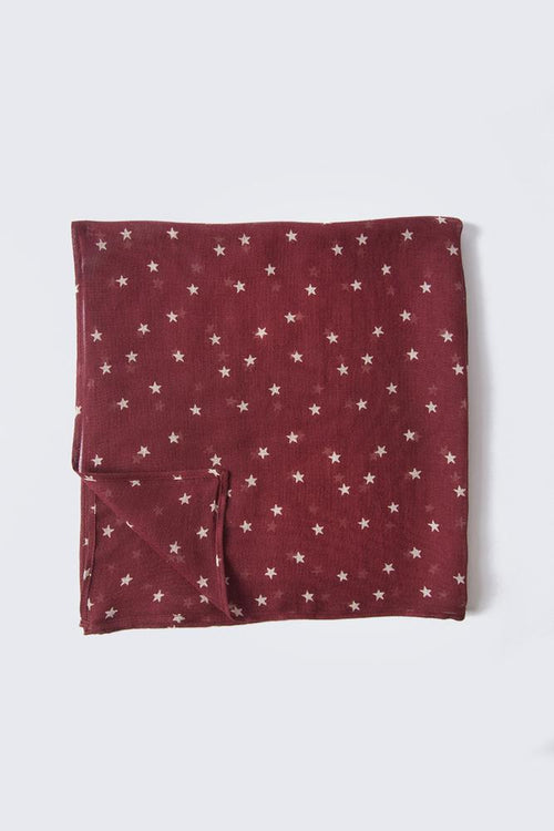 Red Pear Star Print Bandana