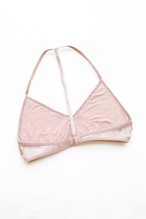 Mahogany Rose Sequin T-Back Bra