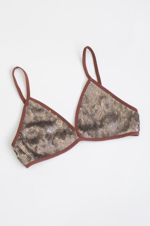 Smoked Paprika-Sequin Bra