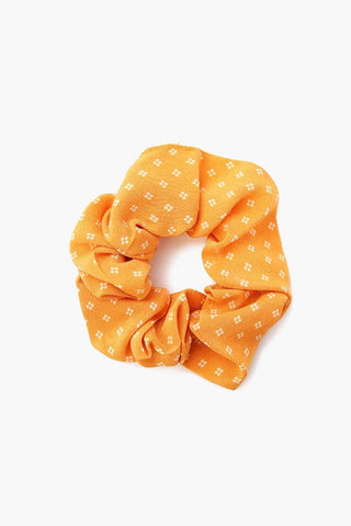 Cowhide 2-in-1 Scrunchie With Bandana