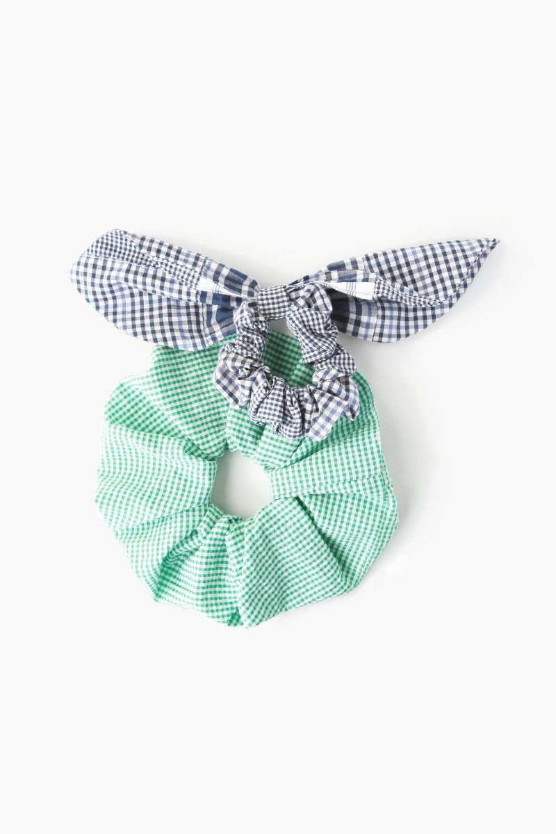 Set of Two Fern Patchwork Scrunchies