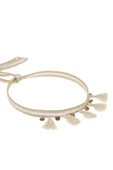 Oxford Tan Tassel Embellished Choker