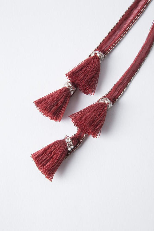 Red Pear Tassel Necktie