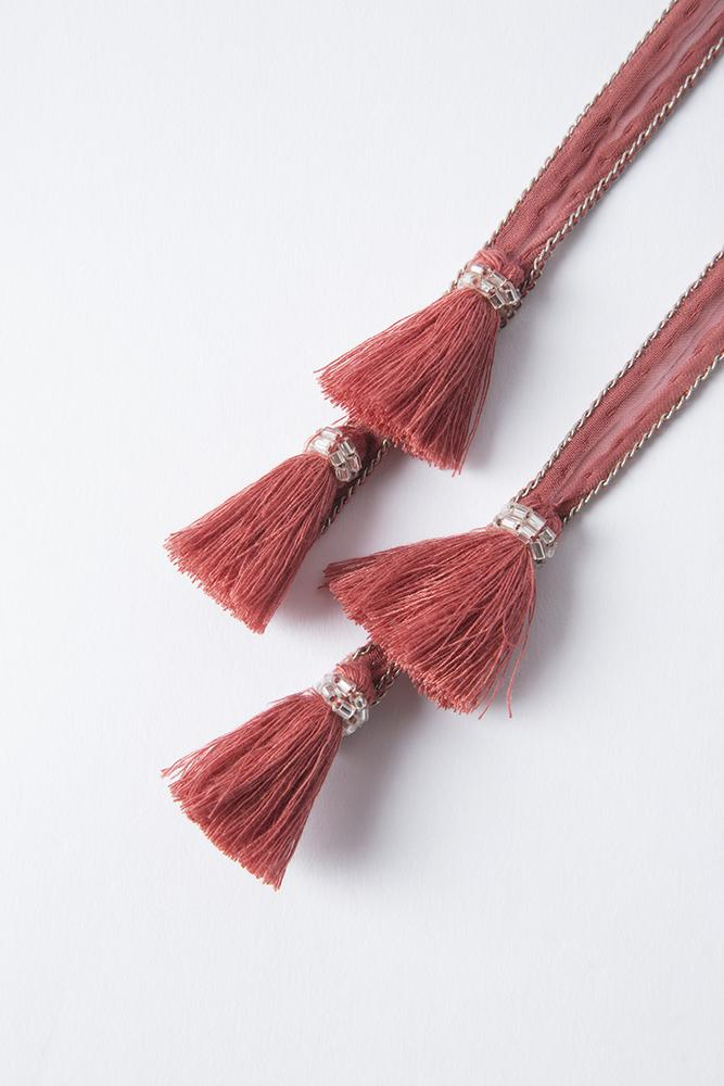 Withered Rose Tassel Necktie