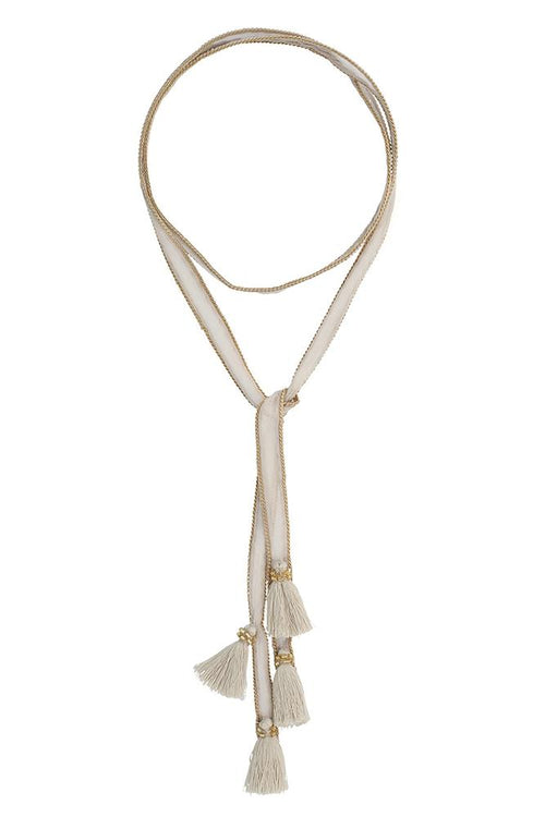 Oxford Tan Tassel Necktie