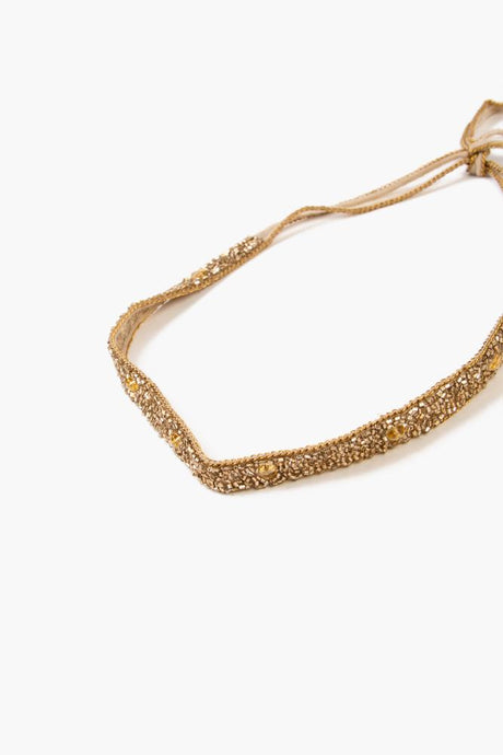 Oxfordtan Gold Fully Beaded Choker