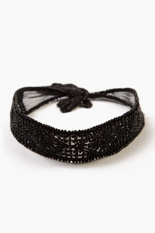 Black Art Deco Choker